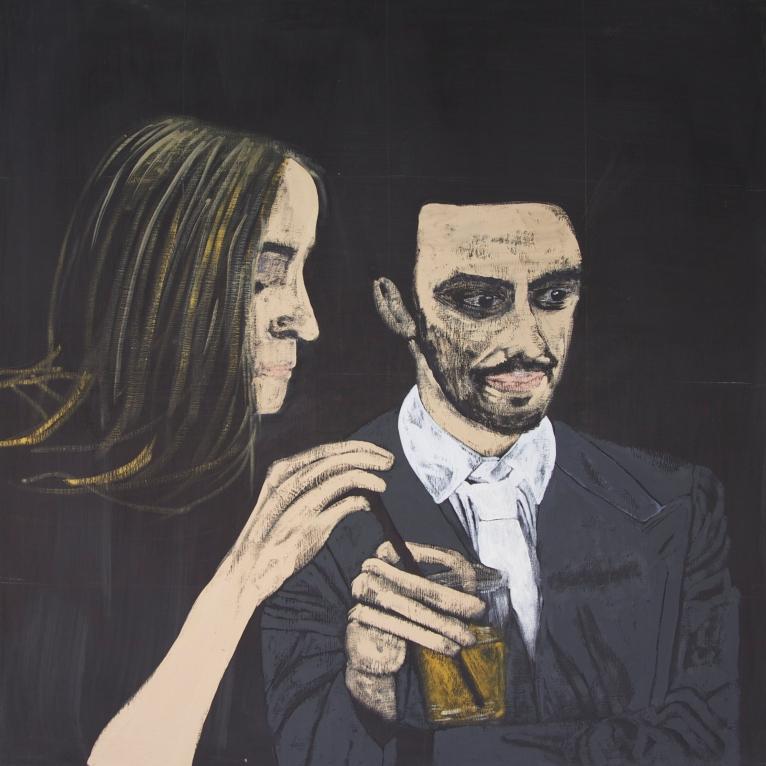#2 Zukunft Oil on Canvas 140x140 cm