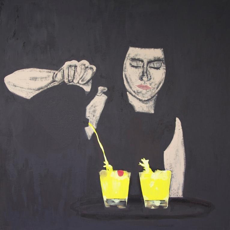 #1 Nightjar Oil on Canvas 160x160 cm