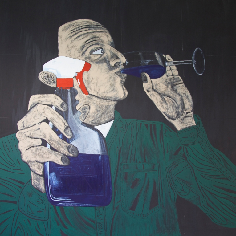 #6 Club Fass Oil on Canvas 190x190 cm